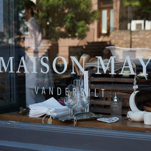 Maison May Vanderbilt wedding registry and cafe