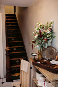 French country decor and farm to table food at Maison May events