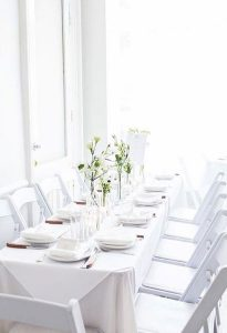 Bridal showers in the Parlor Room at the Maison May brownstone