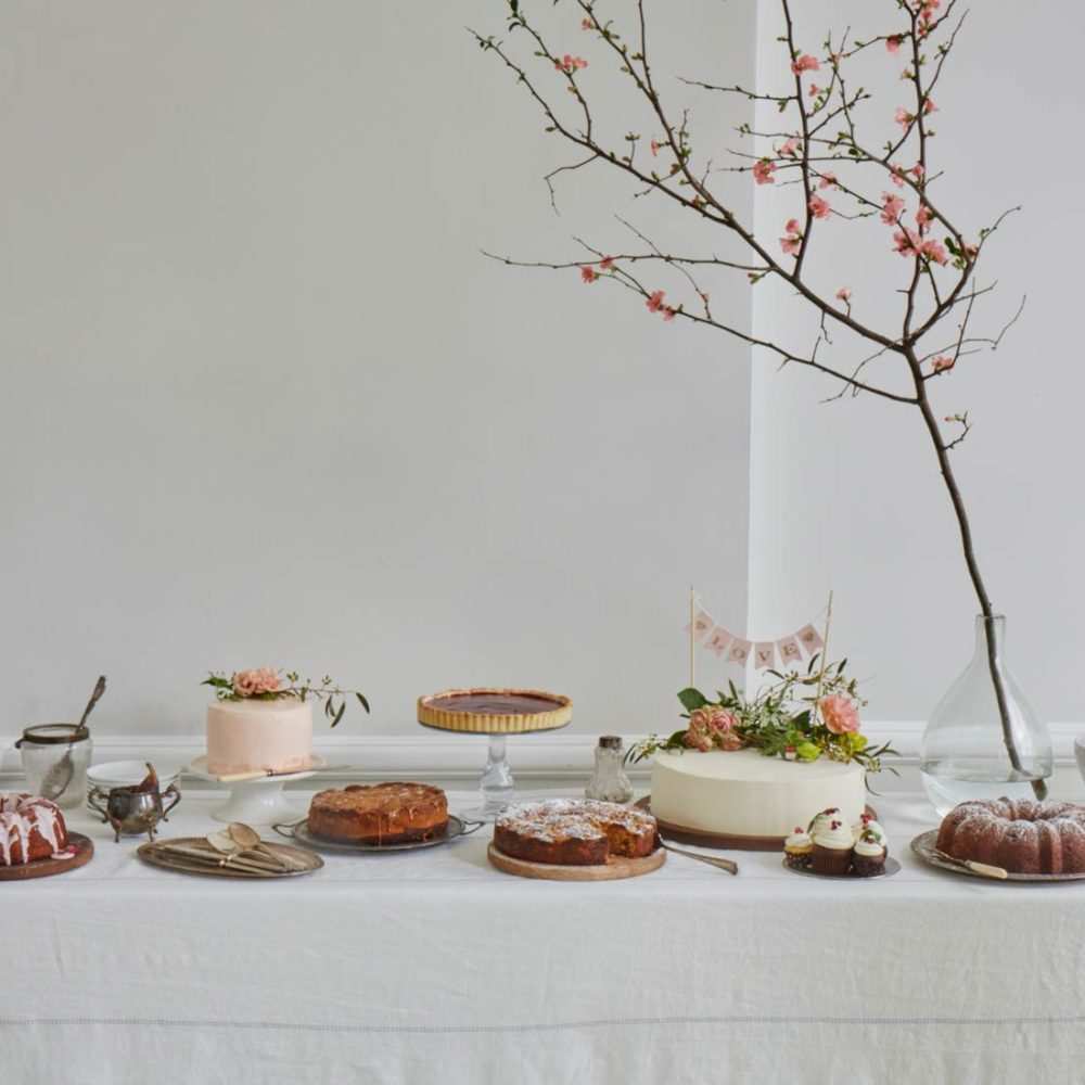 Wedding dessert table for large elegant wedding at Maison May
