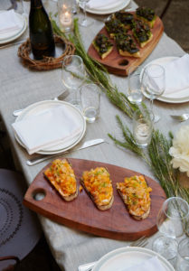 Maison May private garden dinners with natural wine and farm to table food