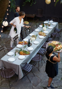 Celebration dinner at outdoor venue in Fort Greene Brooklyn