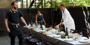 Maison May serves natural wine and farm to table food in beautiful Brooklyn garden venue