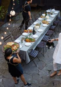 Maison May serves farm to table feast in brownstone garden