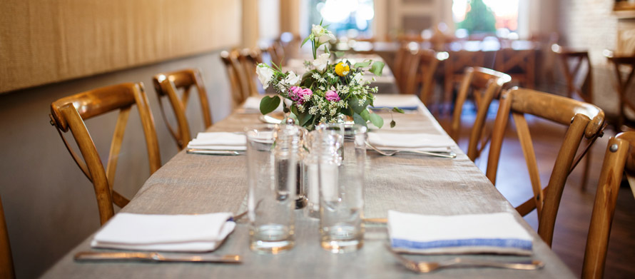 farm to table bridal showers and large brunch reservations in brooklyn brownstone