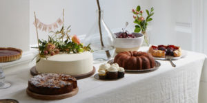 Seasonal wedding cakes and desserts made to order at Maison May