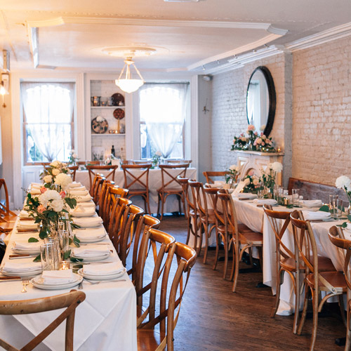 Elegant Wedding Reception Decoration: Elegant Wedding Reception Space In Brooklyn Brownstone