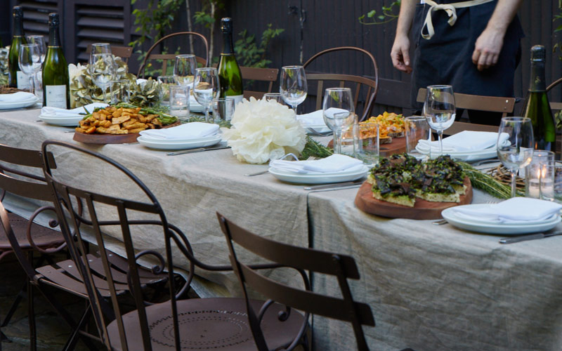 Garden dinner at exclusive Brooklyn Brownstone