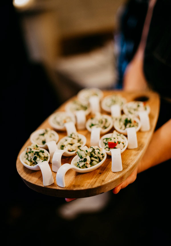 Fresh farm to table hors d'oeuvres for private parties