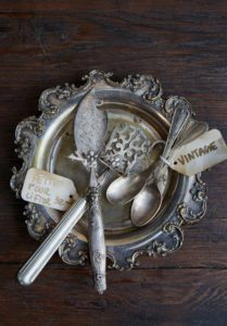 Antique French silver and vintage pieces for sale in Maison May Vanderbilt boutique