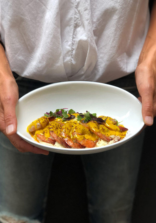 Shrimp and Grits as brunch favorite at Maison May Dekalb