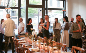 Intimate evening gatherings in Fort Greene café