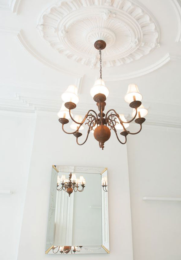 High ceilings and original moldings in Brooklyn Brownstone event space and photoshoot location