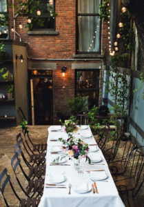 Garden celebrations at exclusive Maison May Brownstone