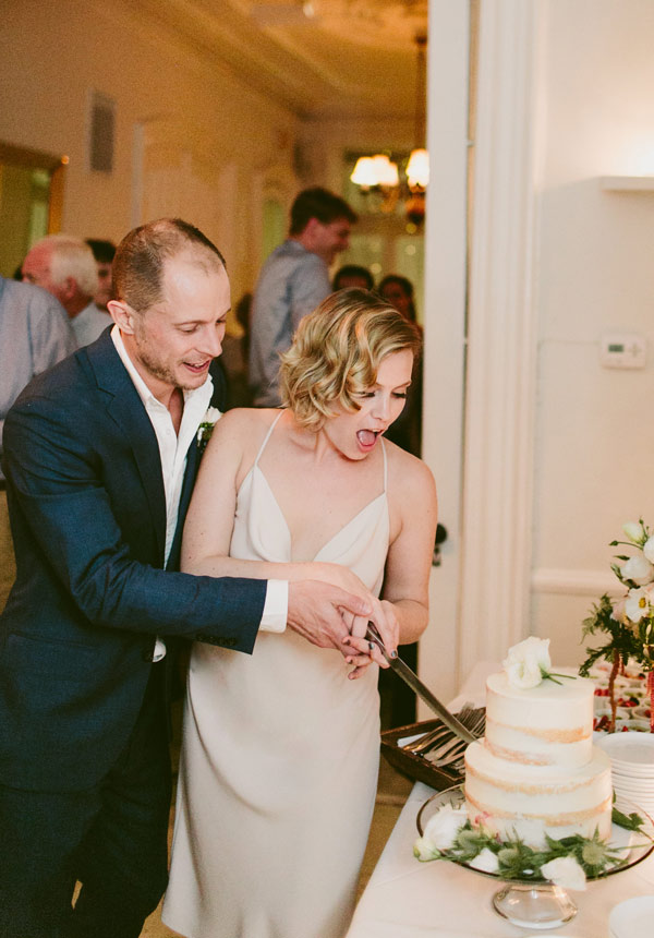 Intimate wedding venue with beautiful home made cakes