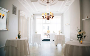 Brooklyn Brownstone parlor floor for wedding toasts and cocktail parties