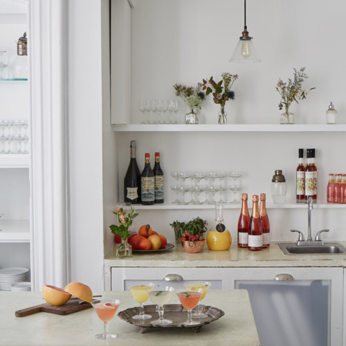Private brunch party with mimosa bar at Maison May Brownstone