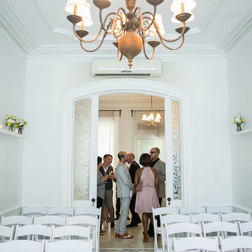 Getting ready for an intimate Brooklyn Brownstone wedding