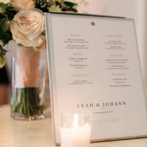 Customized farm to table event menus with gluten free and vegetarian options