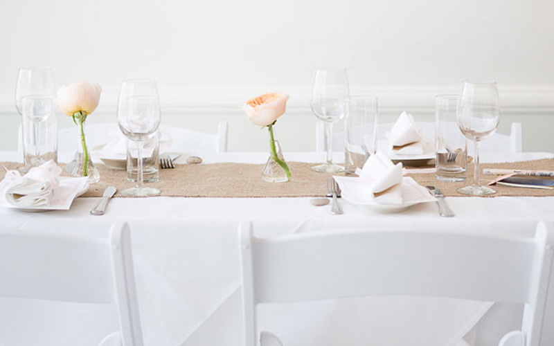 Perfect and simple floral decor for private gatherings in Brooklyn Brownstone