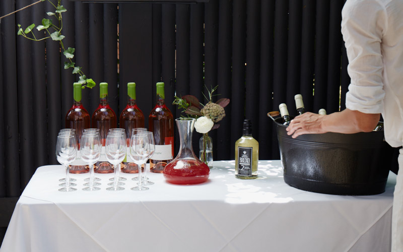 Natural and sustainable wine and cocktails for private events